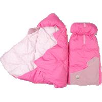 Пуховый конверт-одеяло для новорожденного «Серый гусенок», 90x42 см • Серафимовская пушинка