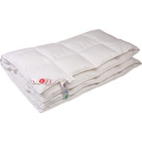 Теплое пуховое одеяло «Виктория», 200x200 см • Серафимовская пушинка