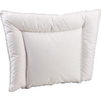 Анатомическая пуховая подушка для новорожденного «Белый гусенок», 38x50 см • Серафимовская пушинка