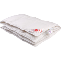 Детское пуховое одеяло «Белый гусенок», 118x118 см • Серафимовская пушинка